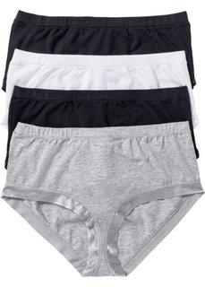 Высокие трусики-панти (4 шт.) (черный/белый/светло-серый мела) Bonprix