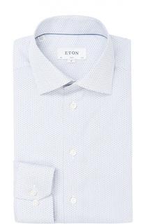 Хлопковая приталенная сорочка с узором Eton
