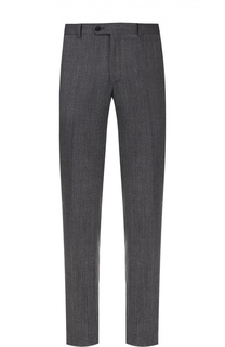 Шерстяные брюки прямого кроя с узором Pal Zileri