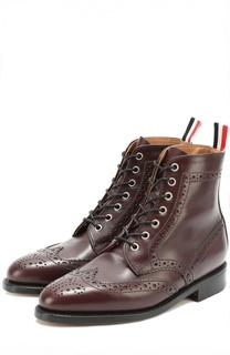 Кожаные ботинки с брогированием Thom Browne
