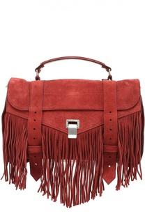 Замшевая сумка PS1 с бахромой Proenza Schouler