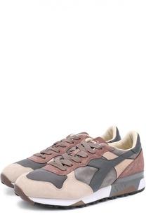 Замшевые кроссовки с кожаной отделкой и текстильными вставками Diadora Heritage