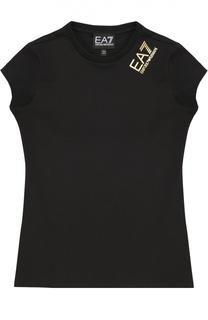 Футболка без рукавов с логотипом бренда Ea 7