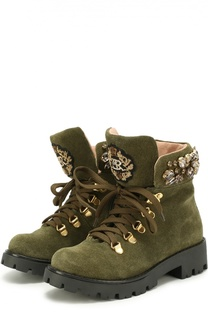 Высокие замшевые ботинки с декором Ermanno Scervino