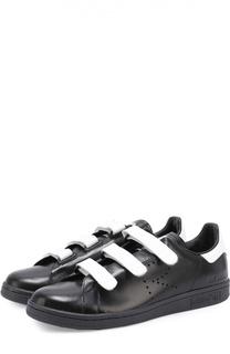 Кожаные кеды Stan Smith с застежкой велькро Adidas by Raf Simons