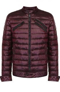 Утепленная стеганая куртка на молнии с воротником-стойкой Just Cavalli