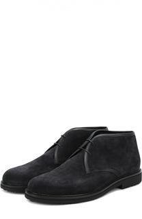 Замшевые ботинки на шнуровке Ermenegildo Zegna
