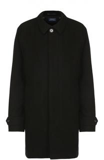 Шерстяное пальто прямого кроя с отложным воротником Polo Ralph Lauren