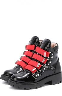 Высокие кожаные ботинки на молнии Dsquared2