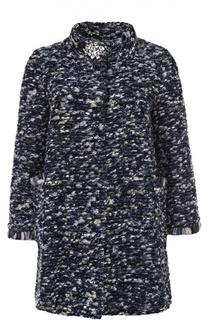 Буклированное пальто с укороченным рукавом и воротником-стойкой Blugirl