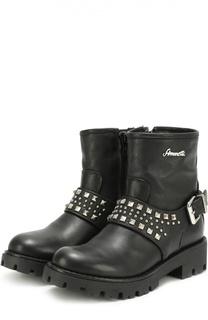 Кожаные ботинки с заклепками Simonetta