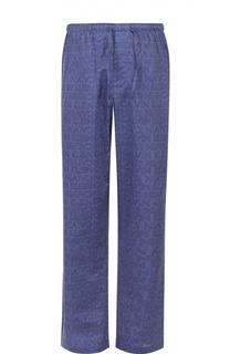 Хлопковые домашние брюки свободного кроя Calvin Klein