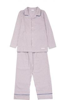 Хлопковая пижама с рисунком в полоску Grigioperla