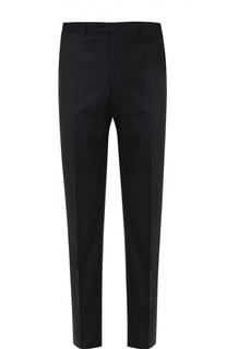 Шерстяные брюки прямого кроя Armani Collezioni