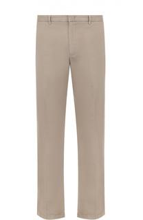 Хлопковые брюки прямого кроя Armani Collezioni