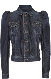 Укороченная джинсовая куртка с рукавом-фонарик Dsquared2