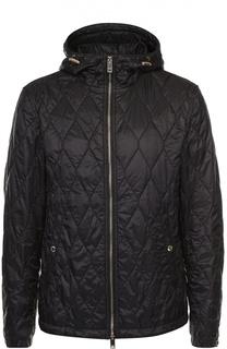 Утепленная стеганая куртка на молнии с капюшоном Burberry
