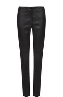 Кожаные укороченные брюки-скинни Diane Von Furstenberg