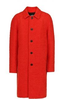 Однобортное пальто с добавлением шерсти MSGM