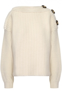 Укороченный пуловер фактурной вязки с декоративной отделкой Acne Studios