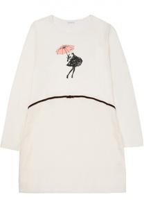 Сорочка с контрастным принтом La Perla