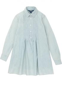 Платье из денима на пуговицах Polo Ralph Lauren