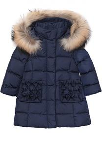 Пуховое пальто с капюшоном Il Gufo