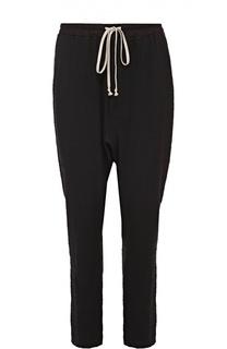Шерстяные брюки прямого кроя с заниженной линией шага Rick Owens