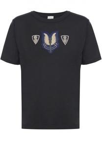 Хлопковая футболка с нашивками Dries Van Noten