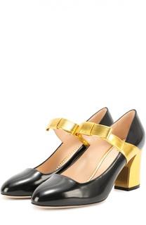 Кожаные туфли Nimue с бантом на ремешке Gucci