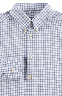 Хлопковая рубашка с воротником button down Kiton