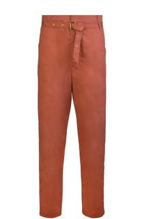 Прямые брюки с завышенной талией и прорезными карманами Isabel Marant