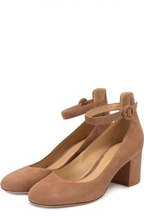 Замшевые туфли Greta с ремешком на щиколотке Gianvito Rossi