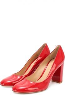 Лаковые туфли на устойчивом каблуке Gianvito Rossi