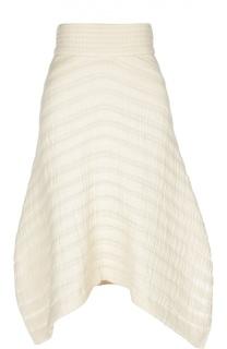 Расклешенная юбка с асимметричным низом и широким поясом Isabel Marant