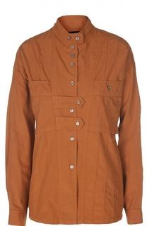 Блуза с накладными карманами и воротником-стойкой Isabel Marant
