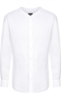 Льняная рубашка свободного кроя Giorgio Armani