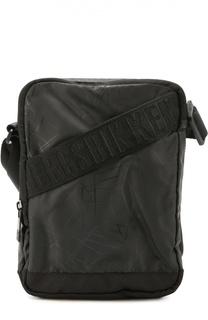 Текстильная сумка-планшет с декоративными ремешками Dirk Bikkembergs