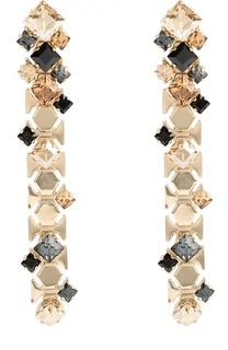 Серьги с кристаллами Lanvin