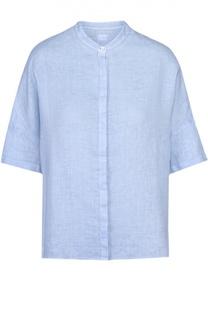Льняная блуза прямого кроя с воротником-стойкой 120% Lino
