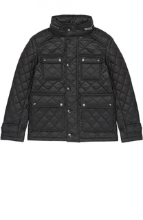 Утепленная стеганая куртка на молнии Burberry