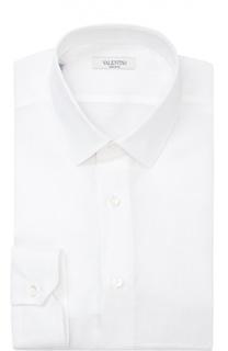 Льняная сорочка с воротником кент Valentino