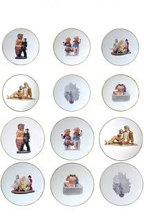 Набор из 12-ти тарелок (6+6) Banality Series Jeff Koons Bernardaud
