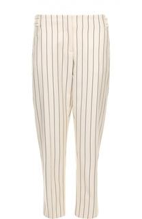 Укороченные брюки прямого кроя в полоску Victoria by Victoria Beckham