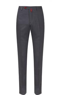 Шерстяные брюки прямого кроя Kiton