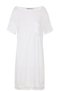 Удлиненная футболка свободного кроя с накладным карманом T by Alexander Wang