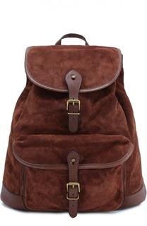 Замшевый рюкзак с клапаном Polo Ralph Lauren