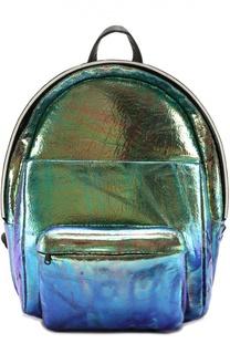 Рюкзак из металлизированной кожи OXS rubber soul