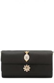 Атласный клатч Dorina с кристаллами Dolce & Gabbana