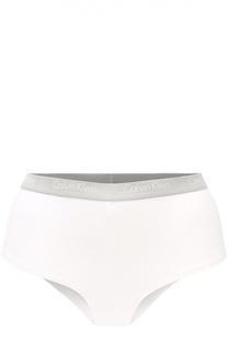 Хлопковые трусы-слипы с логотипом бренда Calvin Klein